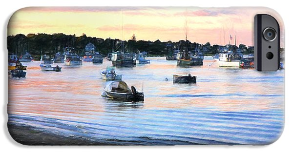 Chatham iPhone Cases - Lobster Boats At Twilight Cape Cod iPhone Case by Daphne Sampson