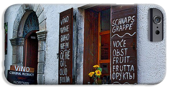Wine Bottles iPhone Cases - Local Croatian Shop iPhone Case by Stuart Litoff