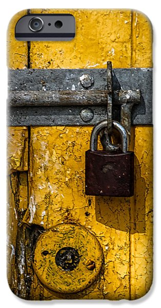 Old Barns iPhone Cases - Lock iPhone Case by Catherine Balfe