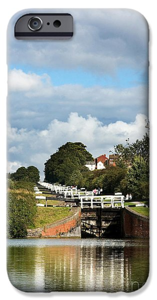 Pastimes iPhone Cases - Lock gates iPhone Case by Jane Rix