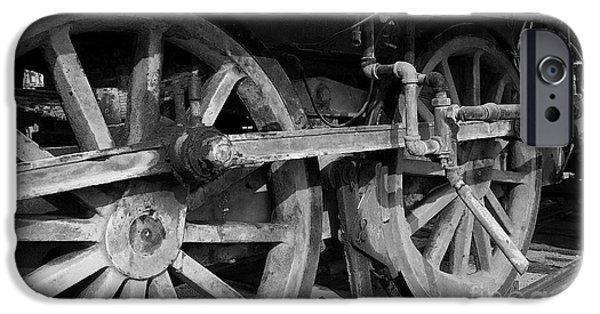 Hightower iPhone Cases - Locomotive Wheels iPhone Case by Tim Hightower