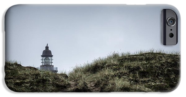 Rainy Day iPhone Cases - Lodbjerg Lighthouse 5 iPhone Case by Casper Wilkens