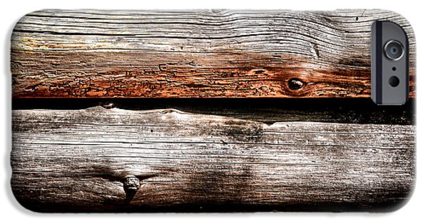 Log iPhone Cases - Log Cabin Wall iPhone Case by Olivier Le Queinec
