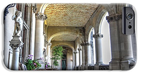 Balcony iPhone Cases - Loggia of Biltmore House iPhone Case by Carol R Montoya