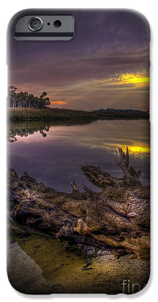 Floods Photographs iPhone Cases - Logging Out iPhone Case by Marvin Spates