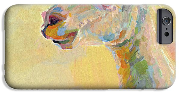 Llama iPhone Cases - Lolly Llama iPhone Case by Kimberly Santini