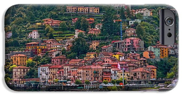 Lago Di Como iPhone Cases - Lombard Town iPhone Case by Hanny Heim