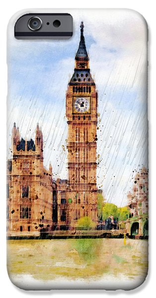 Houses Of Parliament iPhone Cases - London Calling iPhone Case by Marian Voicu