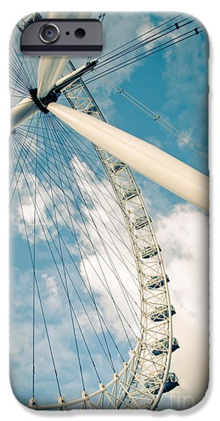 Landmarks Photographs iPhone Cases - London Eye Ferris Wheel iPhone Case by Andy Smy
