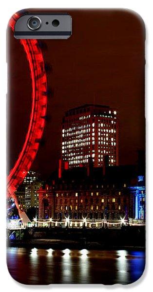 London Eye iPhone Case by Heather Applegate