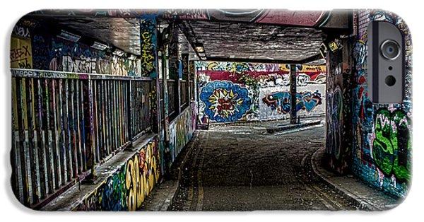 Graffito iPhone Cases - London Graffiti iPhone Case by Martin Newman