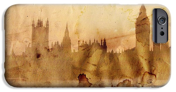 Location Drawings iPhone Cases - London iPhone Case by Michal Boubin
