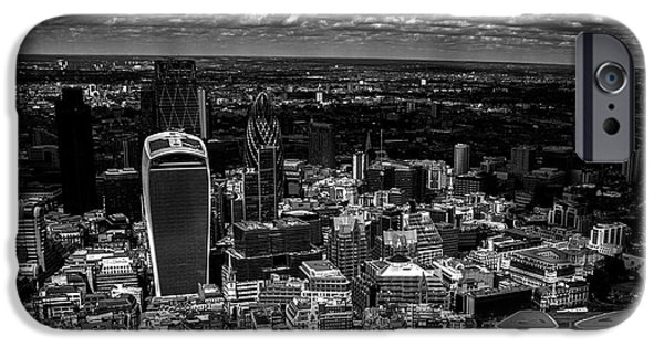 Light And Dark  iPhone Cases - London Town iPhone Case by Martin Newman