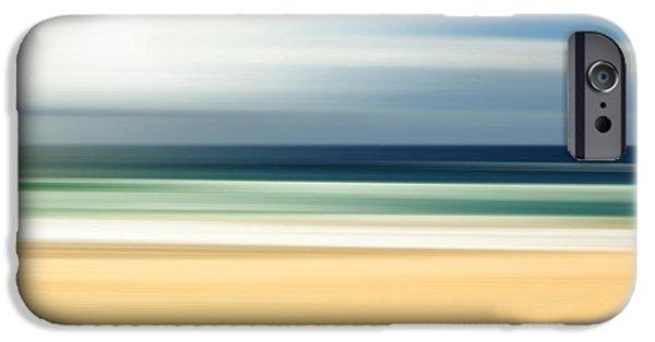 Fluid iPhone Cases - Lone Beach iPhone Case by Az Jackson