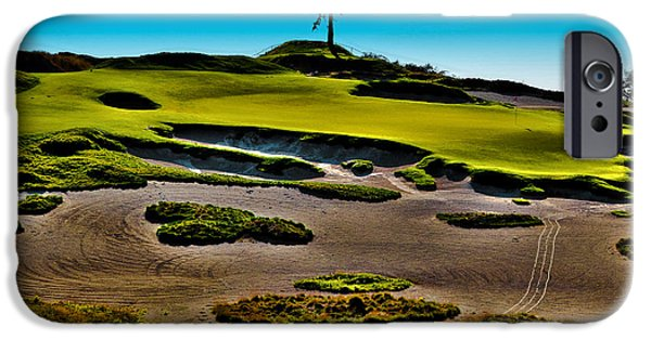 Us Open Photographs iPhone Cases - Lone Fir - Hole #15 at Chambers Bay iPhone Case by David Patterson