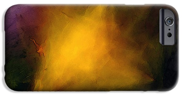Abstract Expressionism iPhone Cases - Lone Star iPhone Case by Karin Kuhlmann