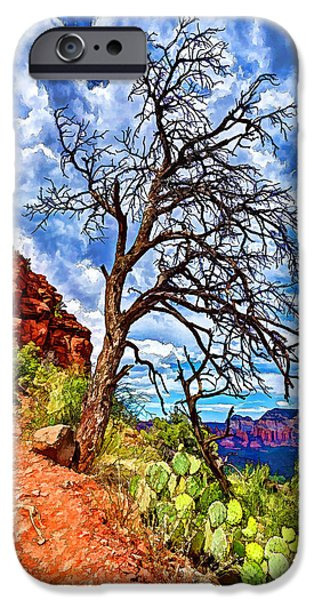 Sedona iPhone Cases - Lone Tree at Airport Mesa iPhone Case by Bill Caldwell -        ABeautifulSky Photography