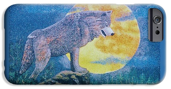 Forest Reliefs iPhone Cases - Lone Wolf iPhone Case by Duane West