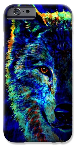 Lone Wolf iPhone Case by WBK
