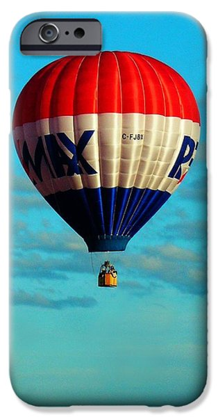 Hot Air Balloon iPhone Cases - Loneliness ... iPhone Case by Juergen Weiss