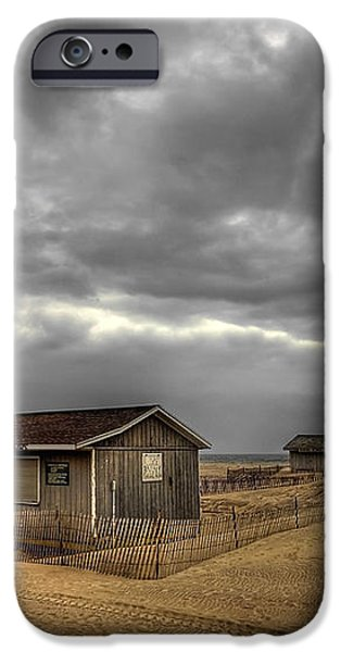 Lonely Beach Shacks iPhone Case by Evelina Kremsdorf