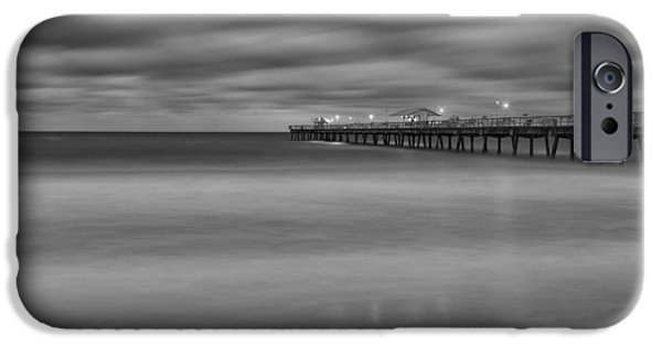 Beach iPhone Cases - Lonely Morning at the Pier iPhone Case by Andres Leon