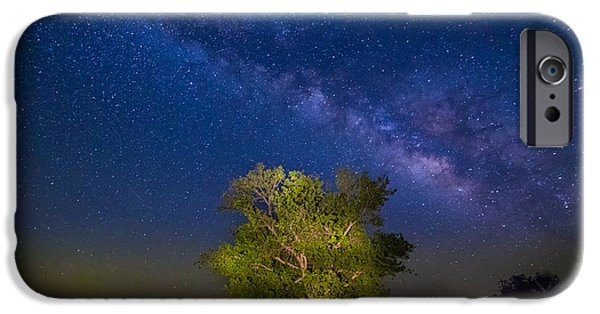 Griffin iPhone Cases - Milky Way Tree iPhone Case by Inge Johnsson