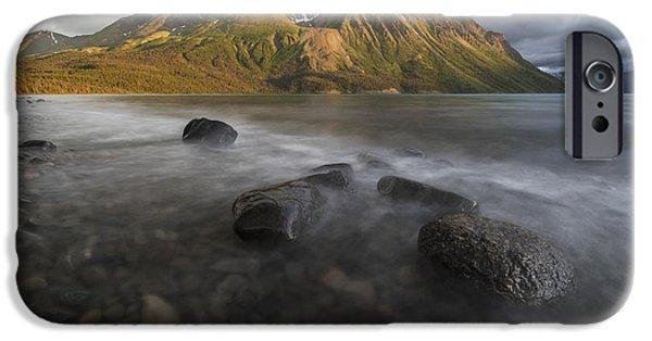 Kathleen iPhone Cases - Long Exposure Of Kathleen Lake Washing iPhone Case by Robert Postma