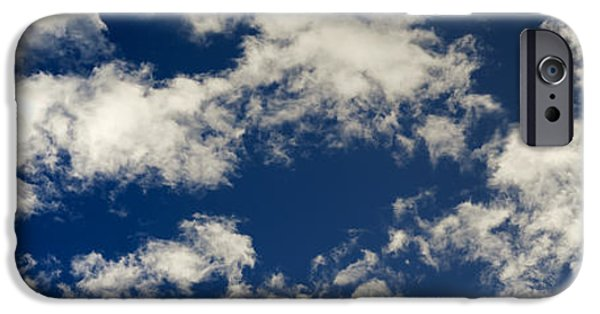 Nature Abstracts iPhone Cases - Long Floating Clouds iPhone Case by Michal Boubin