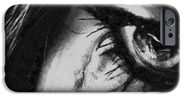 D.c. iPhone Cases - Long Gone - Painting iPhone Case by Sir Josef  Putsche