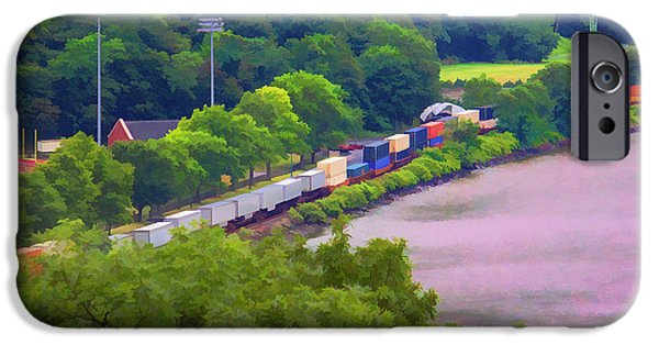 Hudson River iPhone Cases - Long Train iPhone Case by Roberta Byram
