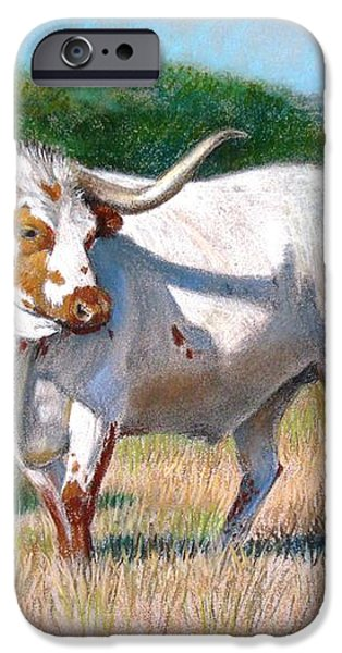 Longhorn Bull iPhone Case by Sue Halstenberg