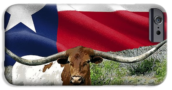 Texas Longhorn iPhone Cases - Longhorn Texas Pride iPhone Case by Daniel Hagerman