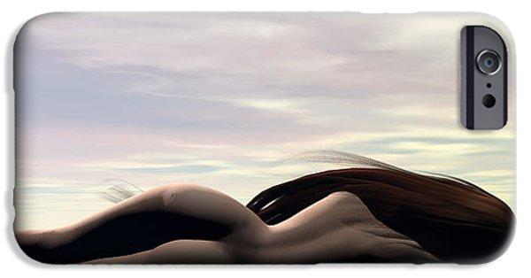 Ocean Sunset iPhone Cases - Longing iPhone Case by Sandra Bauser Digital Art