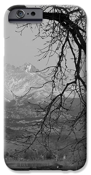 Longs Peak and Mt. Meeker the Twin Peaks Black and White Photo I iPhone Case by James BO  Insogna