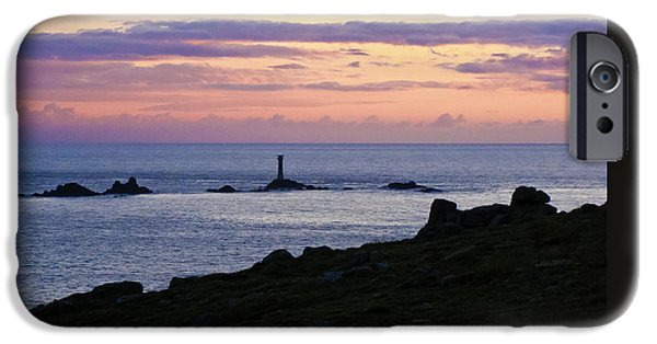 Animals Photographs iPhone Cases - Longships Sunset iPhone Case by Terri  Waters