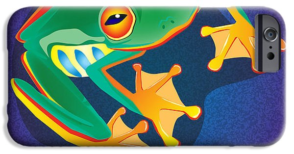 Amphibians Digital Art iPhone Cases - Lookin at you iPhone Case by Nick Gustafson