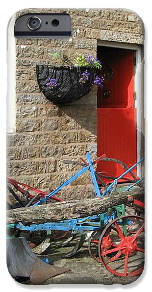 Looking at a old stone house iPhone Case by Joyce Woodhouse