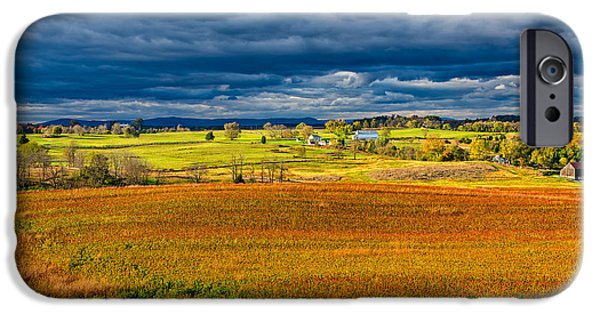 Historic Site iPhone Cases - Looking Back at Antietam iPhone Case by John Bailey
