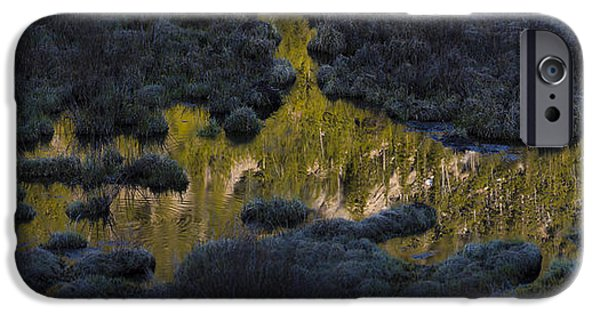 Reflection Lake iPhone Cases - Looking Down and Up iPhone Case by Noah Bryant