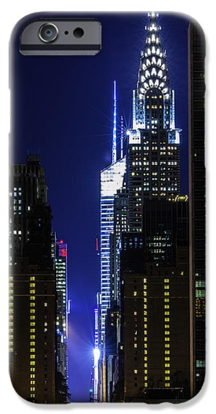 Empire State iPhone Cases - Looking Down Forty Deuce iPhone Case by Theodore Jones