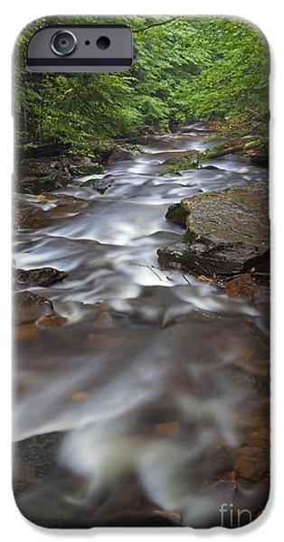 Creek iPhone Cases - Looking Downstream iPhone Case by John Stephens