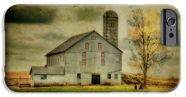 Old Barn iPhone Cases - Looking For Dorothy iPhone Case by Lois Bryan