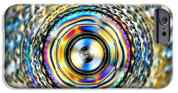 Oil Slick iPhone Cases - Looking Inside iPhone Case by Karen Mackey