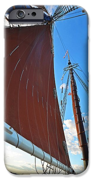 Boston Ma iPhone Cases - Looking up at the sails Boston MA iPhone Case by Toby McGuire
