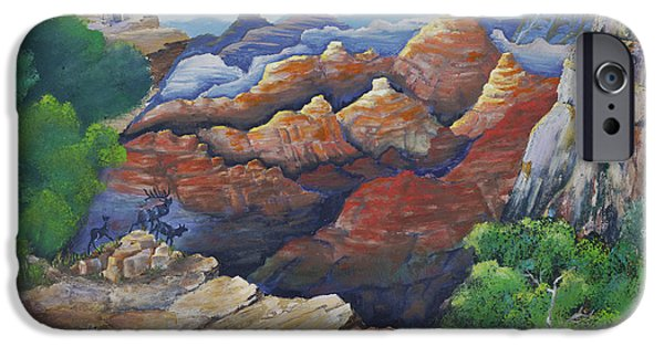 Rust iPhone Cases - Lookout at Grand Canyon iPhone Case by Kathy Przepadlo