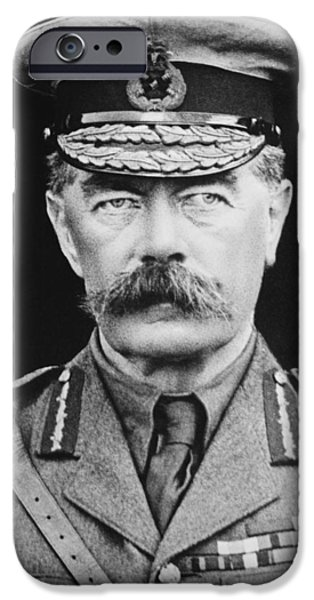 World War One Photographs iPhone Cases - Lord Herbert Kitchener iPhone Case by War Is Hell Store