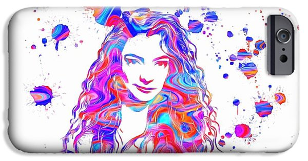 The Dream Team iPhone Cases - Lorde Colorful Paint Splatter iPhone Case by Dan Sproul