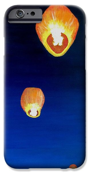 Lorraine's Lanterns iPhone Case by Jack Skinner