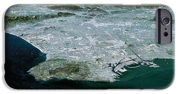 3-d iPhone Cases - Los Angeles, Radar Image iPhone Case by NASA / Science Source